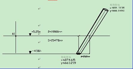 用全站仪测距确定斜柱中心点