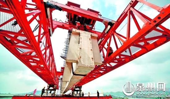 泉三高速南惠支线明年6月通车 仙石大桥合龙_钢结构