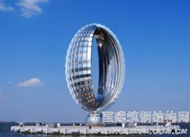 上海市临港新城滴水湖地标性景观雕塑《水滴》