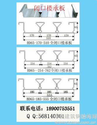 BD65楼承板,YXB65楼承板,YX65楼承板,YXB65-185-555楼承板