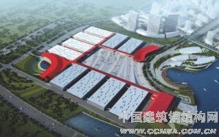 青岛温泉国际博览中心(?海项目)钢结构吊装