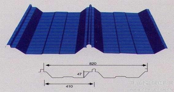 角弛型屋面板/暗扣搭接式屋面板/金苏彩钢屋面板专供