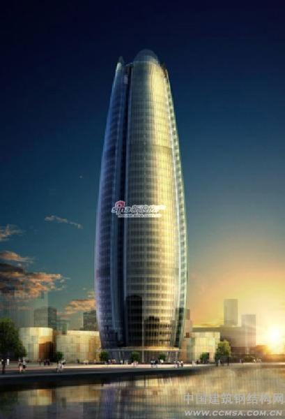 外国钢结构办公楼效果图