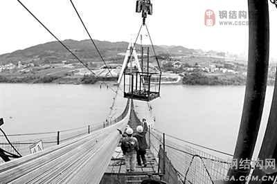 悬索桥施工技术,填补了我国该结构体系桥梁施工技术