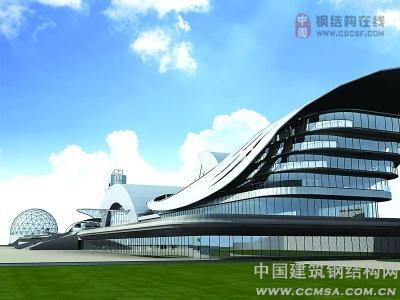 科技楼钢结构造型