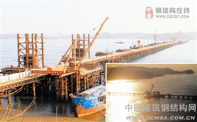 长山大桥引桥工程基本完工_钢结构行业新闻_建筑钢