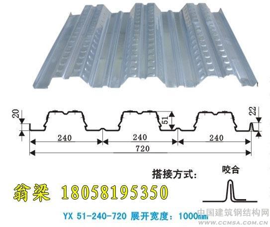 YX51-240-720楼承板钢承板开口楼承板