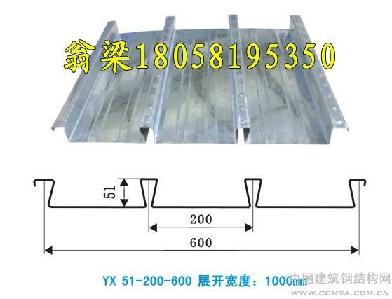 YX51-200-600楼承板钢承板燕尾式楼承板