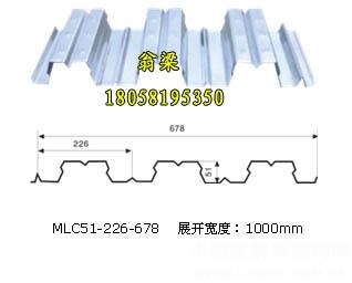 YX51-226-678楼承板钢承板开口楼承板