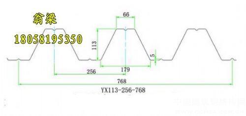 YX113-256-768楼承板钢承板开口楼承板