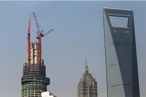 """钢结构网首页 -> """"上海中心""""突破四百米大关"""