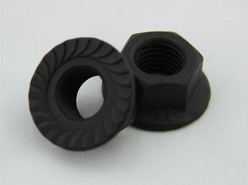 施必牢锯齿防滑型六角法兰面防松螺母 DTF6177.1,DTF6177.2