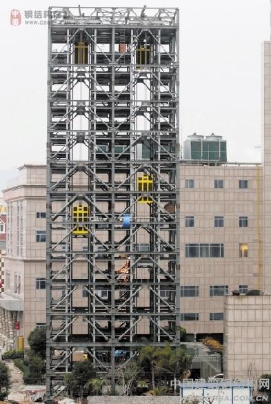 每个停车塔库占地面积只有50平方米