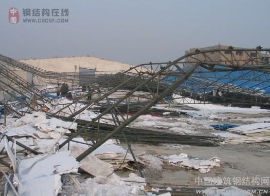 安庆一在建钢结构发生坍塌