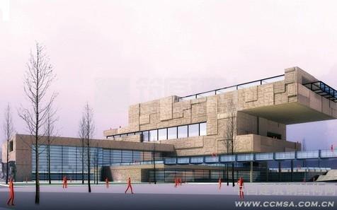 钢结构网首页 -> 泰州博物馆:桁架的大跨度悬挑施工