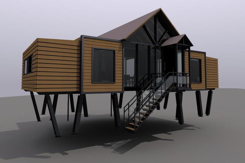 新型钢结构组合屋