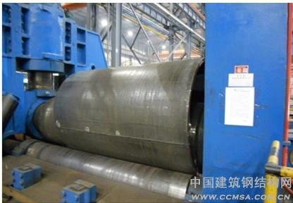 钢结构网首页 -> 深圳机场大直径厚壁锥管柱制作技术