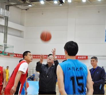 姚兵会长与徐济成共同开球