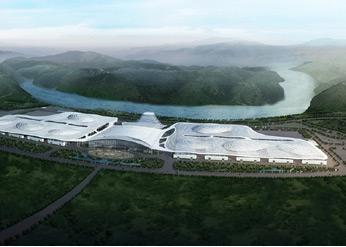重庆国际博览中心鸟瞰图