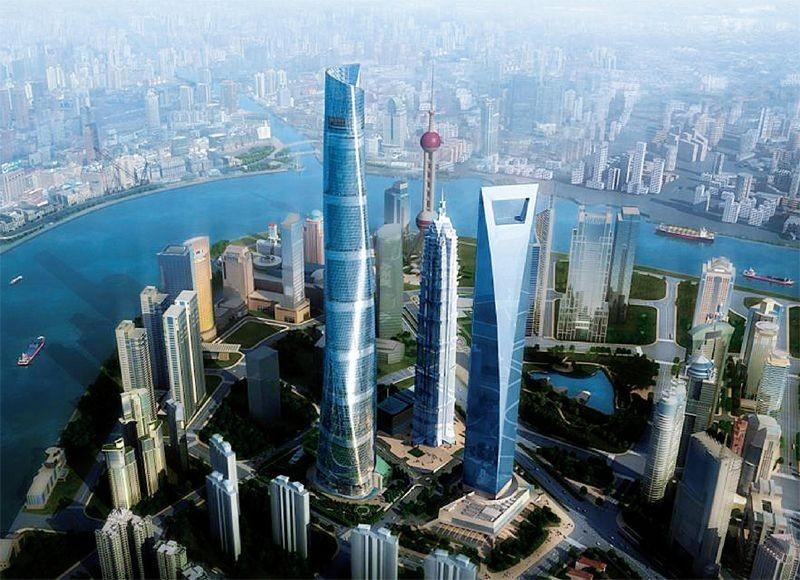 上海中心、环球金融中心、金茂大厦