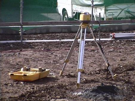 施工放线步骤_住宅施建场地,测量放线定位.