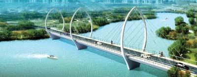 章丘锦绣河大桥