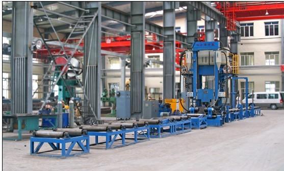 H型钢拼焊矫一体机