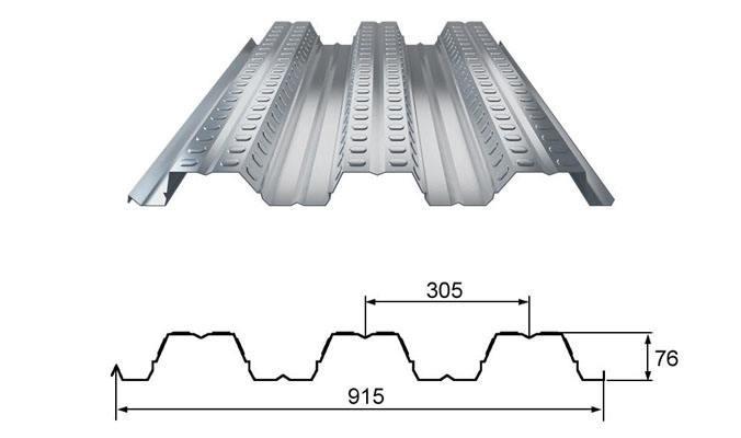 楼承板YX76-305-915规格参数--中构新材