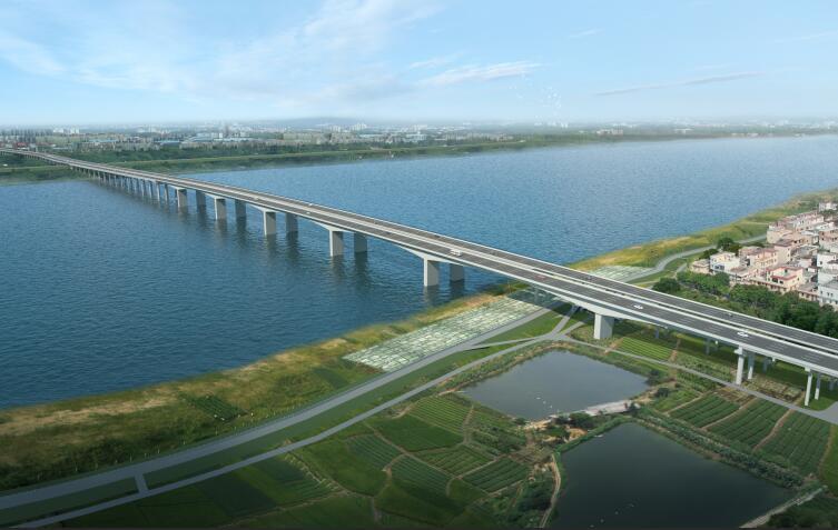 肇庆大桥扩建工程首座盖梁顺利完成浇铸