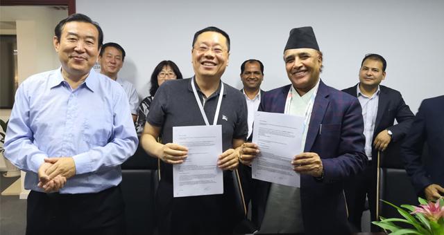 中国建筑金属结构网组织尼泊尔商务考察团访问国内企业合作共赢