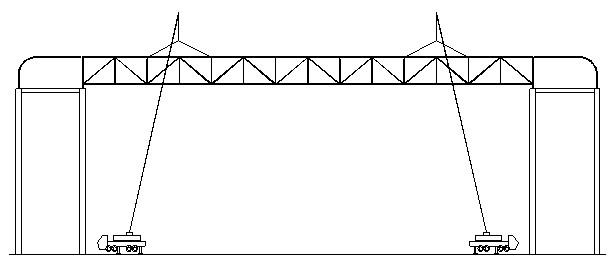 3.2 桁架焊接 主桁架的焊接是该阶段第二个关键环节,总长61.6m的桁架分为6段,在上、下弦杆上共计有10处焊缝,再加上腹杆焊缝等,焊接工作量非常大,且所有桁架对接缝均为一级焊缝,焊接工艺要求较高。焊接前,我司工程技术科会同工程管理科专门编制了专项焊接方案,并对每一名操作工人进行技术交底,确保每一名工人都能熟练掌握焊接工艺。 在焊接过程中,制定了以下注意点: 3.