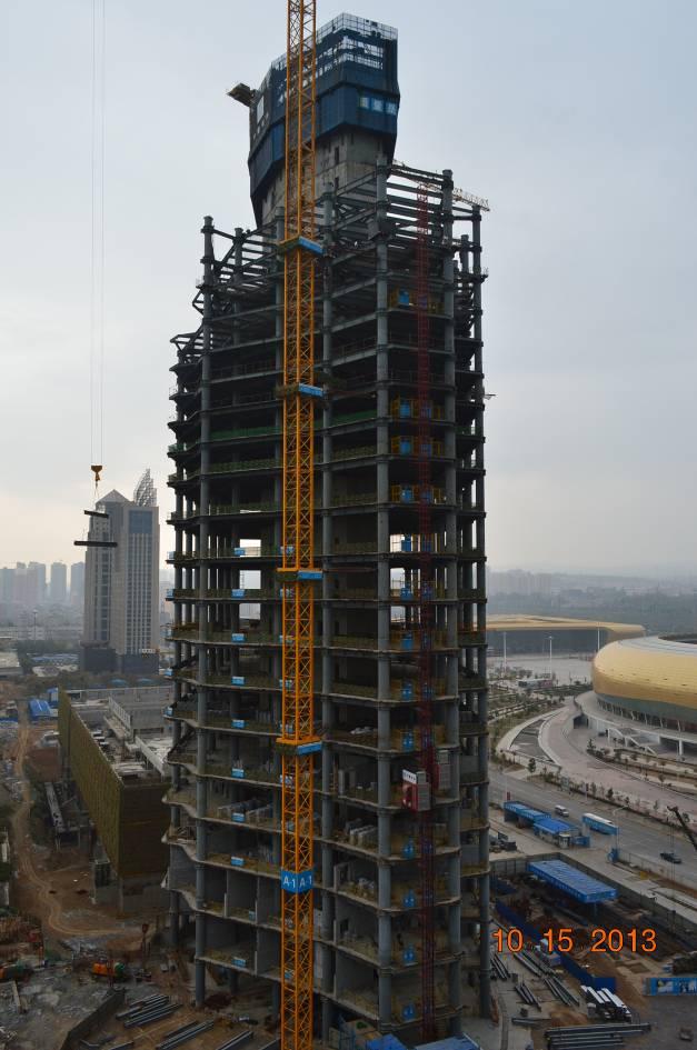 中建钢构承建三门峡第一高楼