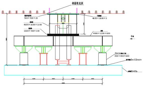 顶推滑道设置于顶推临时支墩顶,由分配梁,竖曲线调整用液压千斤顶图片