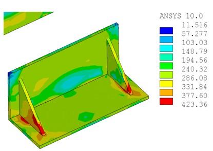 薄壁方钢管梁柱加腋节点数值分析